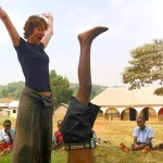 Lauren teaching yoga in Uganda, January, 2014.